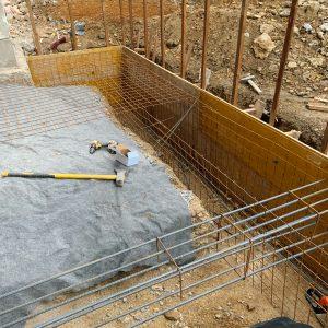 Príprava základov novej prístavby